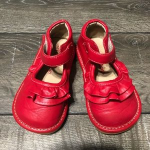 Doodlebugs Red Ruffle Shoes Toddler Girl's Size 9